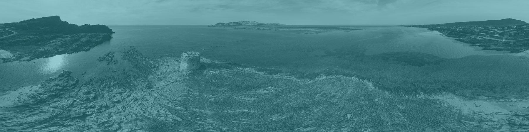 Vista aerea su Torre della Pelosa